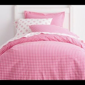 2 PB Duvet Covers twin Gingham Check Pink